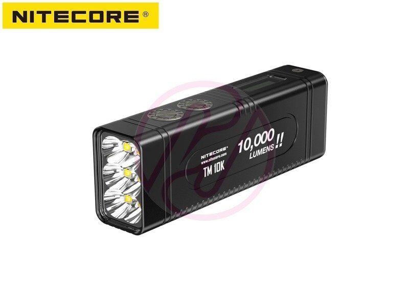 NiteCore TM10K 6x Cree XHP35HD 10000lm USB-C w  Rechargeable Battery Flashlight