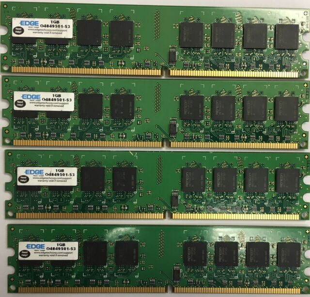 4GB 4X 1GB Memory for Dell XPS 210 400 410 420 600 700 710 DDR2 PC2-5300 667 RAM