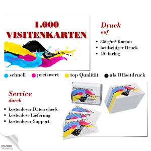Details Zu 1000 Visitenkarten Drucken 350g Karton Beidseitig Offsetdruck 4 Farb Druck