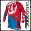 Maglia-cross-enduro-FLY-RACING-Kinetic-outlaw-rosso-blu miniatura 1