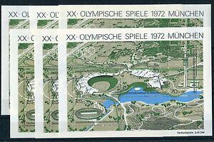 Bund-Block-7-sauber-postfrisch-6-Stueck-Olympische-Spiele-Muenchen-1972-MNH