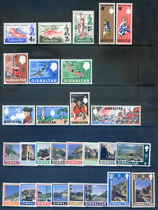 Gibraltar 1966 to 1971 5 sets all unmounted mint, cheap price (2021/10/02#02)