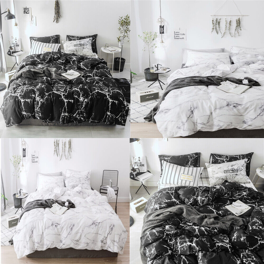 Marble Printed Bedding Sets Comforter Duvet Quilt CoverΠllow Case All Size