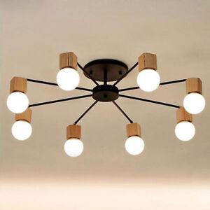Wood-LED-ceiling-light-living-room-bedroom-children-039-s-room-ceiling-lamp-lighting