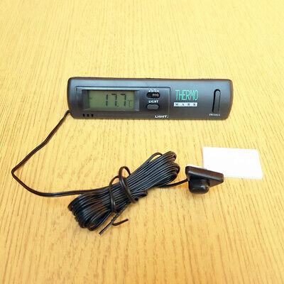 Ensemble de 3 MEROURII Horloge dHygrom/ètre de Thermom/ètre de Voiture Mini Thermom/ètre de V/éhicule Compteur dHumidit/é Electronique D/écoration dHorloge Quartz avec Batterie