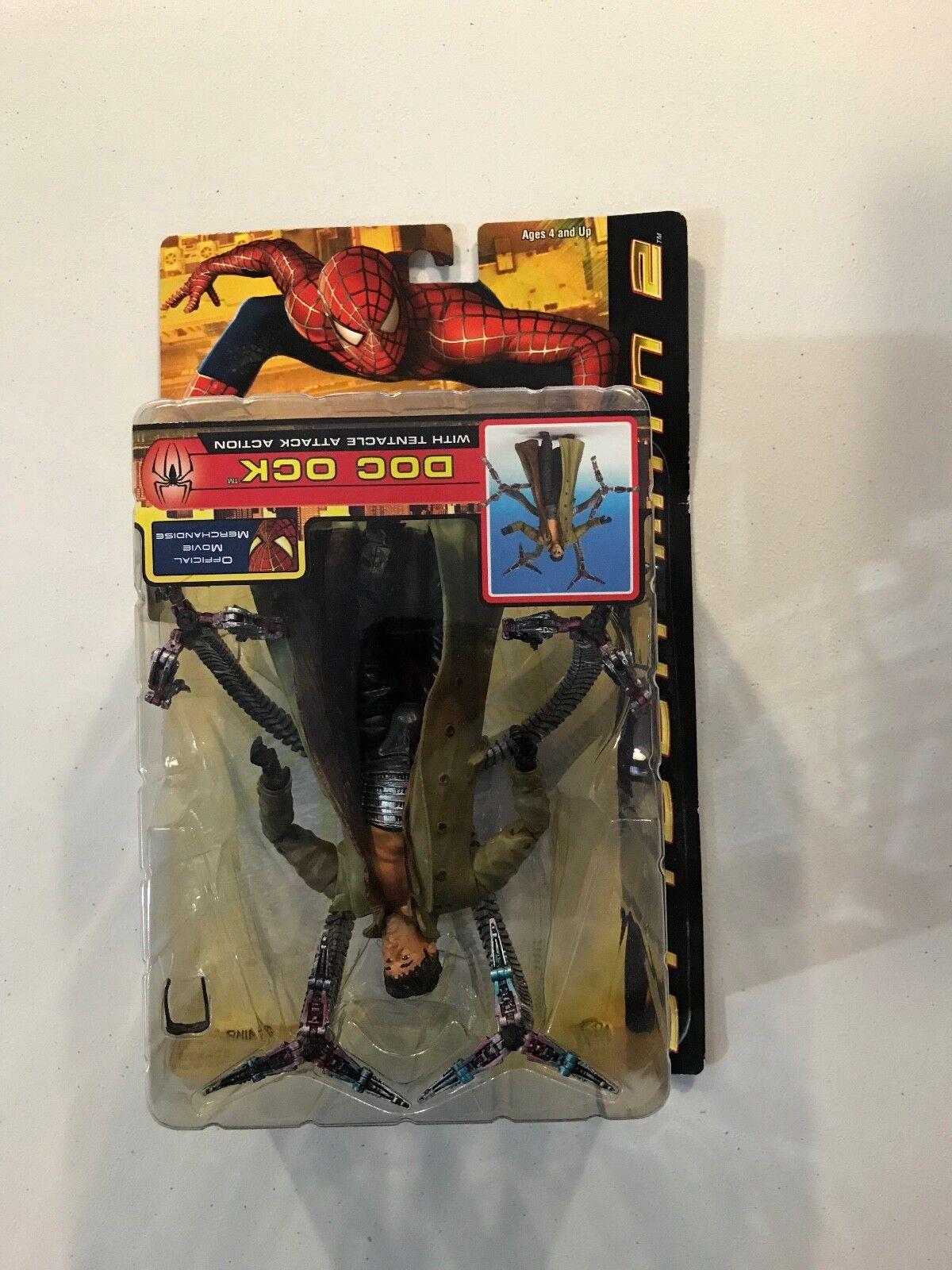 Hombre Araña 2 película Doctor Octopus error boca abajo Figura Nueva Juguete Biz 2004