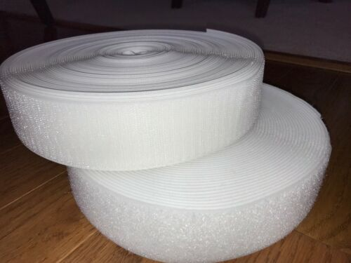 5 cm Tape White 27 Yards Roll Hook and Loop Sew On Non-adhesive 2 In