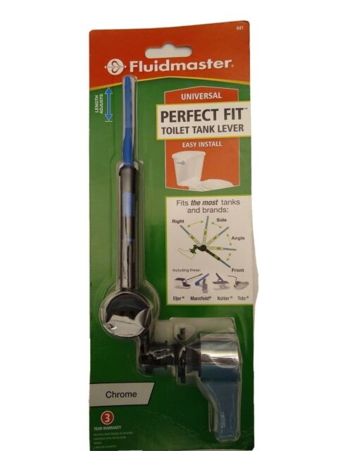 Fluidmaster lot of 2 Perfect Fit Universal Toilet TankLever Chrome 641TotoKohler