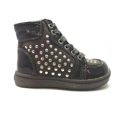Scarpa Alta Bambina Sneakers scarpe sportive Balducci Vernice Camoscio  Lacci zip 1bd36e0a776