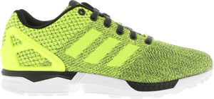 4241a6716c24 Image is loading MEN-S-ADIDAS-ZX-FLUX-WEAVE-YELLOW-BLACK-
