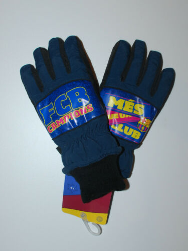 FC Barcelona~Handschuhe~7-8~9-10~11-12 Jahre~Junge~Finger~Messi~Fussball~Winter
