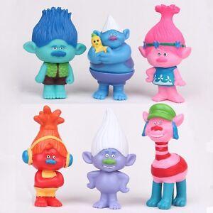 Newest-6pcs-Trolls-Poppy-Branch-Playset-Figure-Cake-Topper-Birthday-Game-Toys