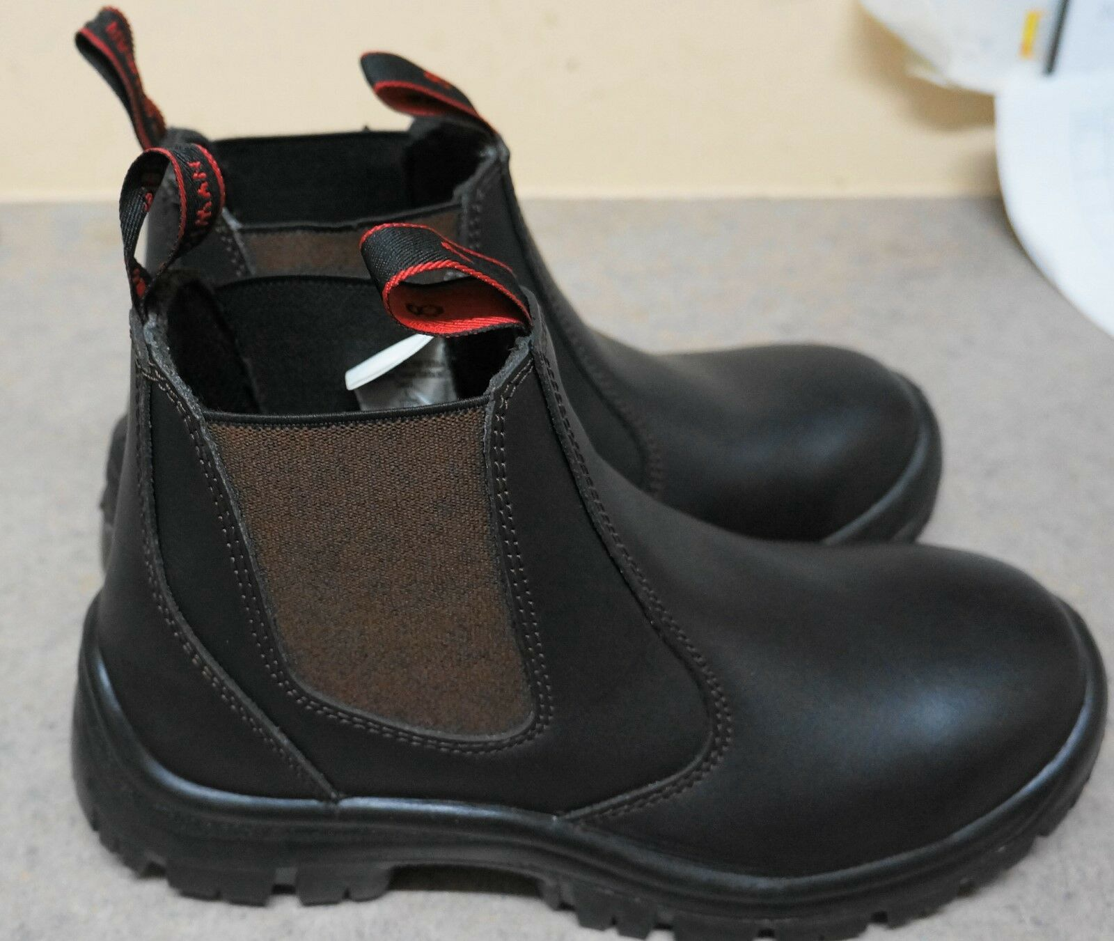 Work Boots Steel Cap Brown Pull On Workboots Brown Cap Safety Boot Steel Toe f34a69