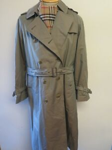 R Raincoat Burberry 16 Mac Olive Genuine Uk Size Trench Coat Euro 44 XzqawUxUH
