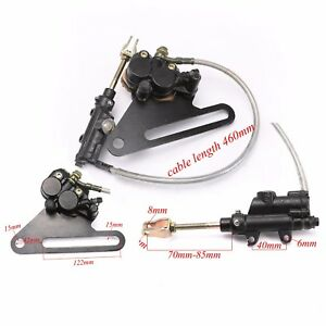 KTM250 Rear Hydraulic Disc Brake Caliper Master Cylinder Motorcycle 460mm Cable