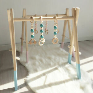 Natural-Pine-Wooden-Play-Gym-Activity-Frame-Baby-Gym-Nursery-Decor-Sensory-Toys