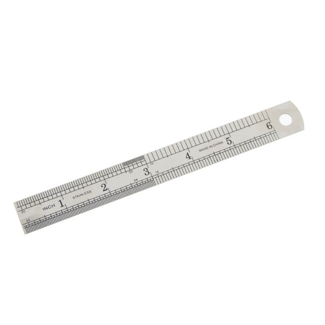 15cm 6 Inch Stainless Steel Straight Ruler Drafting Supplies Office Stationery
