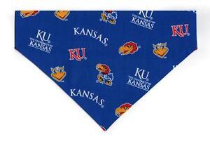 Pet Dog Bandana Scarf Blue UNIVERSITY OF KANSAS KU JAYHAWKS ***Made in USA***