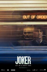JOKER JOAQUIN PHOENIX SUBWAY MOVIE POSTER FILM A4 A3 A2 A1 PRINT CINEMA