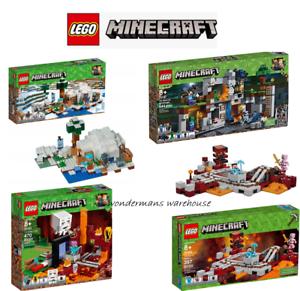 Lego Minecraft Sets - 21142/21143/21147/21130 Nether Portal / railway & More Nouveau