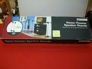 "BRAND NEW SANUS HOME THEATER SPEAKER STANDS #HTB3-B1 ADJ. 26""-39"" 4LBS. SURROUND"