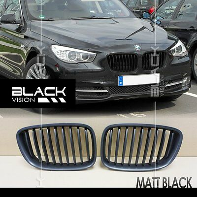 Matte Black 9 Strokes Front Mesh Grille For Bmw 5 Series F07 Gt Gran Turismo Ebay