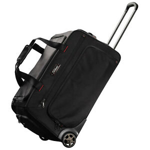 2 Wheeled Travel Trolley Hand Luggage Suitcase Duffle Holdall Bag