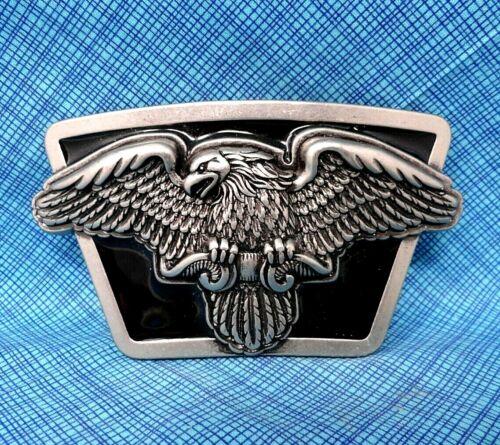 Silver tone Double Eagle Metal Belt Buckle
