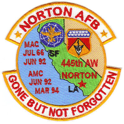 GONE BUT NOT FORGOTTEN                 Y OXNARD AFB CALIFORNIA USAF BASE PATCH