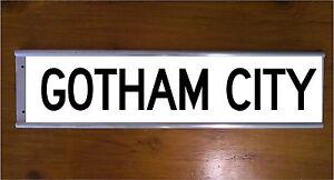 CHRISTMAS GIFT GOTHAM CITY STREET SIGN ROAD BAR SIGN