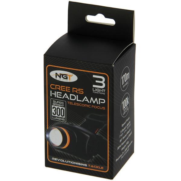 Saber Sensorbeam Kopflampe 140 Lumen mit Case super helle Stirnlampe Headlight