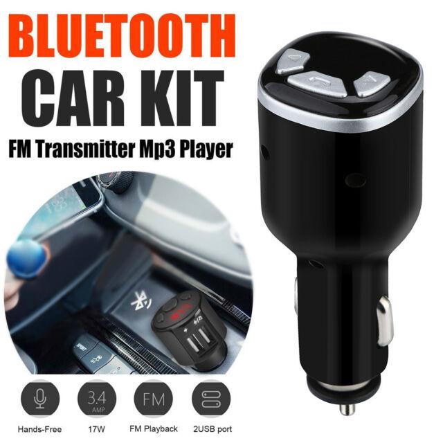 Bluetooth Car Kit FM Transmitter Wireless Radio Adapter USB Charger Mp3 Player