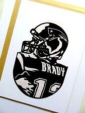 """Tom Brady, Arte Pop, Reutilizable Calcomanía Adhesivo 4""""X de 6"""" pulgadas de vinilo negro retratos"""