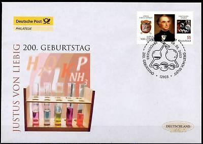1a 1701 SpäTester Style-Online-Verkauf Von 2019 50% Post-fdc Nr 2337 Gerade Brd 2003: Justus Von Liebig Berliner Ersttagsstempel