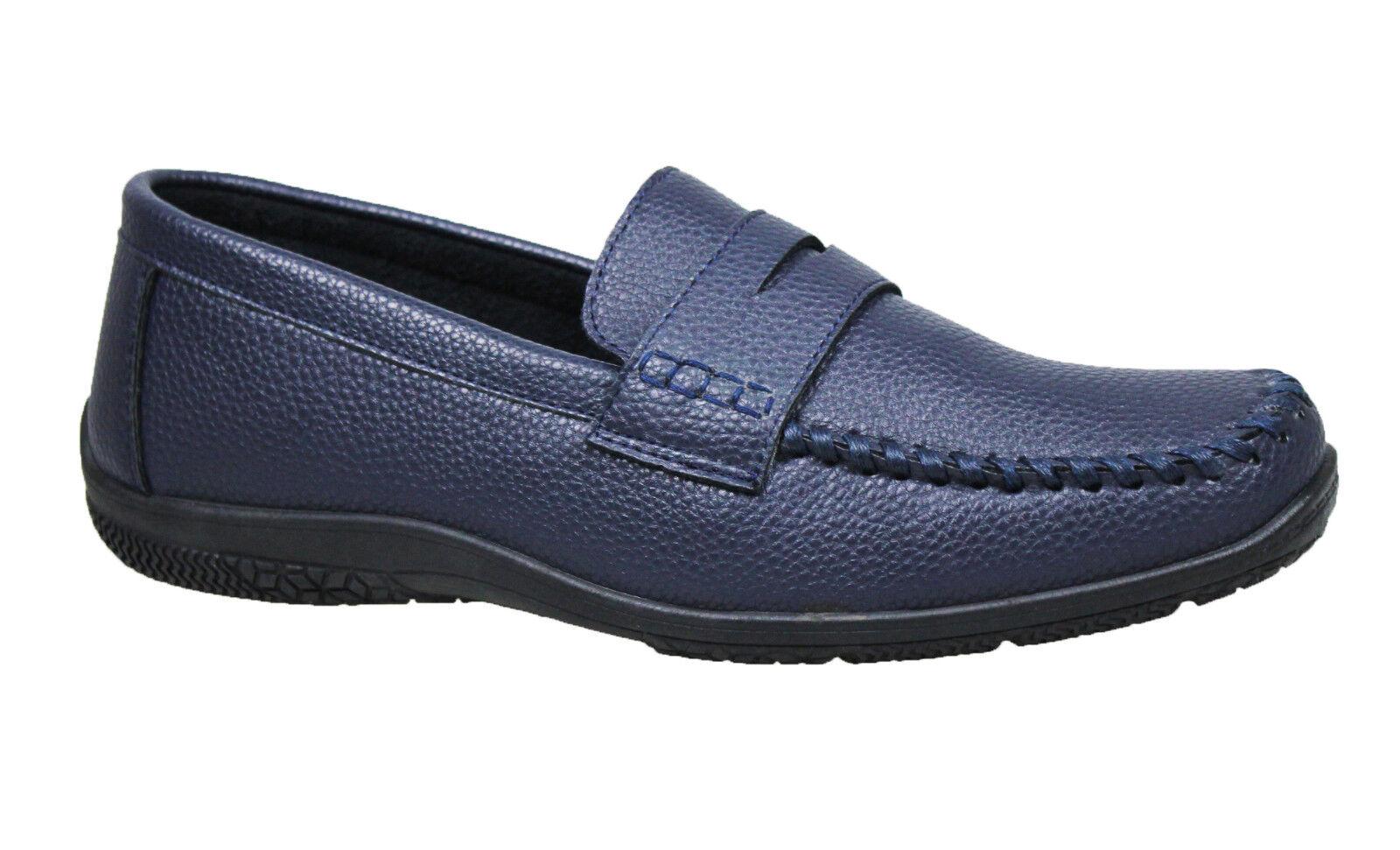 Mokassins Herren Blau Casual Elegant Schuhe Schuhe Schuhe aus Weich Ökoleder