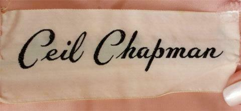CEIL CHAPMAN 1950s Light Pink Lace Cocktail Dress - image 8