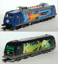 "Spur H0 Märklin 36837 2 Lokomotiven BR 185 und RH 2016 Design ""Supermann"" Ep.V"