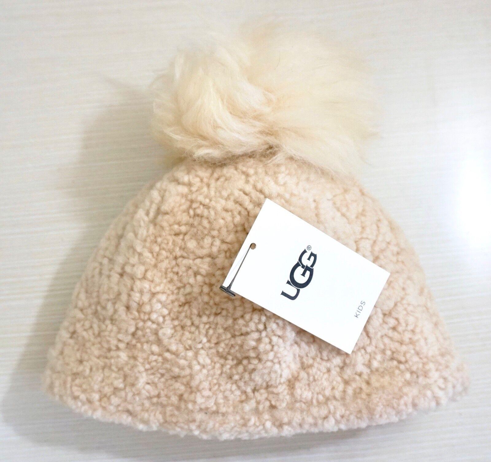 95 $ UGG Australia - Bonnet en peau de mouton, Alezan, Taille 2-4 ans