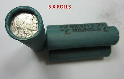 Old Sealed Buffalo Nickel Rolls //// 200 Coins //// Mixed Date//Mint 5