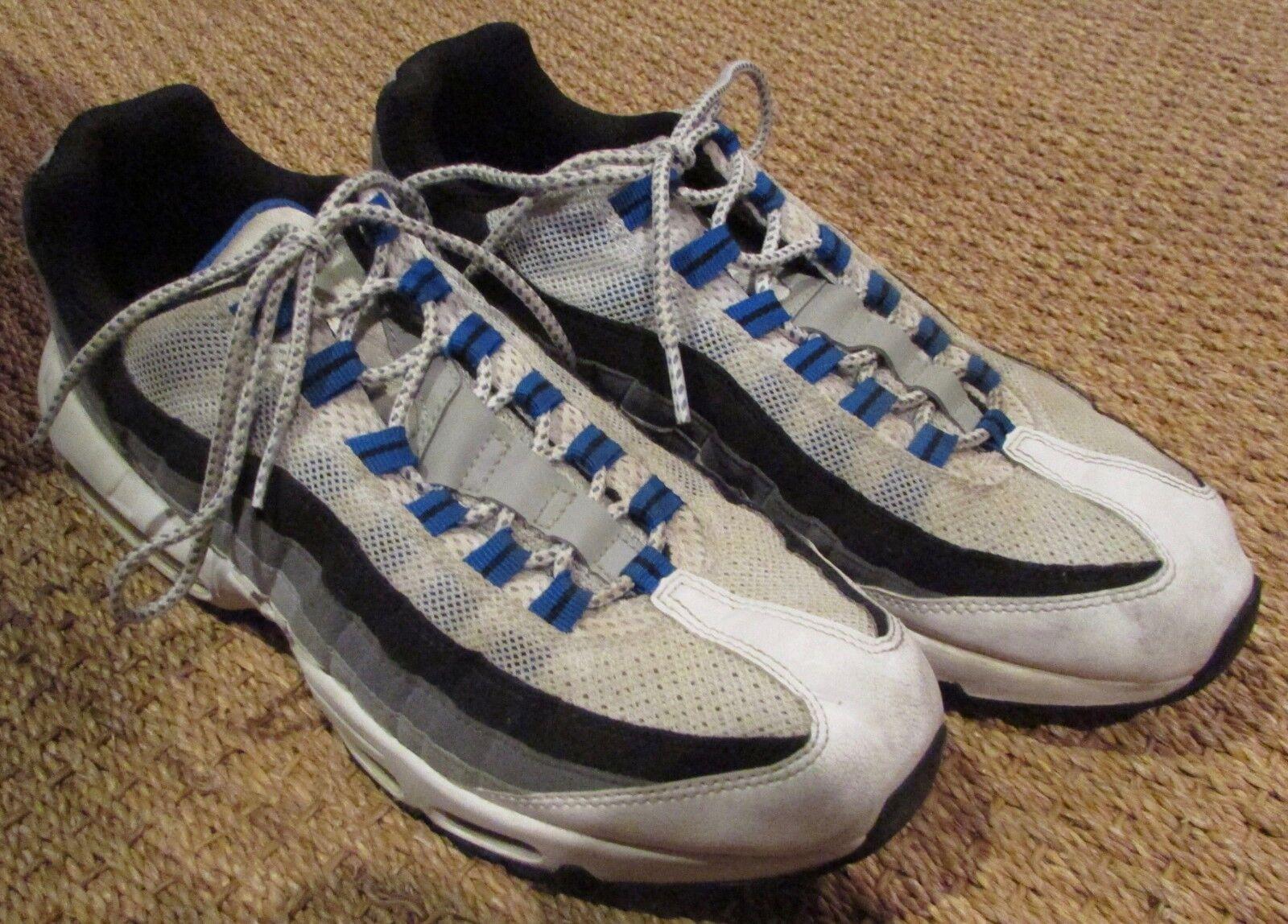 Nike Air Max 95 Weiß Hyper Cobalt Blau Größe 10.5  609048-108