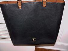 Ralph Lauren* Leather Handbag*Purse*Tote*Black & Tan*Large*