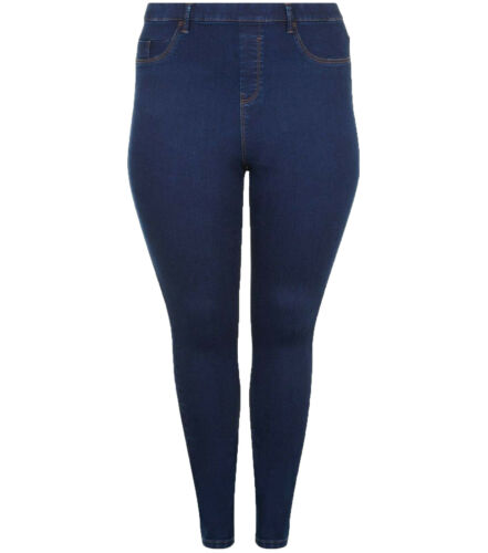 New Ladies New-Look Blue Denim Jegging Skinny Jeans Trouser Plus Size 20-28