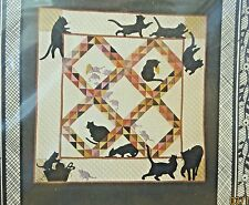 "AMISH CATS AND RATS QUILT PATTERN- WALL HANGING 43"" X 43"" -1984- NEW IN PKG"