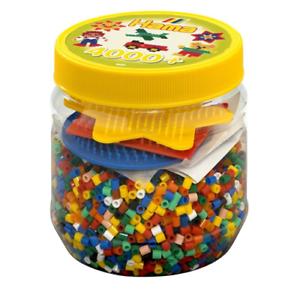 Dettagli Su Barattolo Giallo 4000 Pz Pyssla Hama Beads 2052 Gioco Creativo