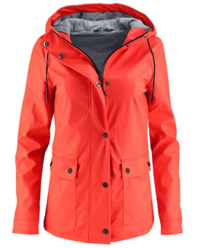 ONLY Damen Regenjacke Regen Mantel onlVALIANT RAINCOAT Parka Übergang Jacke rot