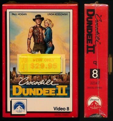 Paramount Video 8mm Cassette Crocodile Dundee Ii 1988 Paul Hogan Romantic Comedy Ebay
