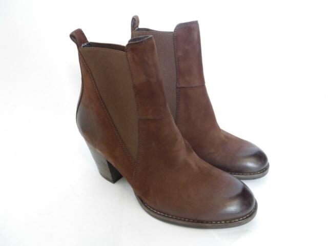 919171949e35 NEW Paul Green Jules Block Heel Chelsea Ankle Bootie Brown Sz US 5.5  UK 3