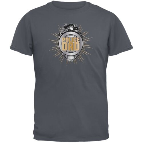 Police Dad Charcoal Grey Adult T-Shirt