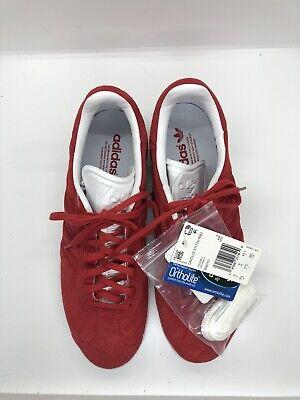 New Men's Adidas Gazelle Stitch And Turn BB6757 Red 9.5 US / 9 UK / 43 EU