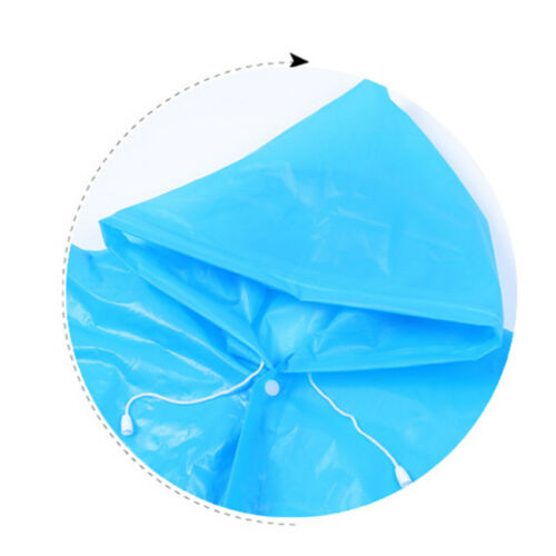 PVC Lightweight Waterproof Emergency Raincoat Poncho for Girls Boys with Hoods